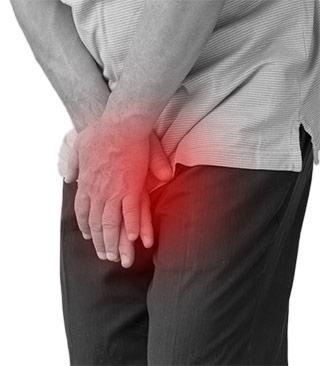 Hombre con prostatitis