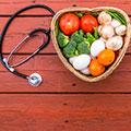 Plato de comida en forma de corazon