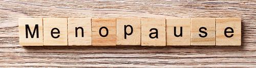 Letras que forman la palabra Menopausia