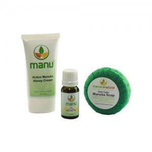 Combo con productos de manuka para el eczema