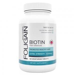 Tabletas de rapida digestion Foligain Biotin (Sabor cereza)