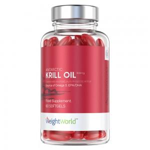 Aceite De Krill Antártico - Fuente Pura y Sostenible de Omega 3 - Bote de Aceite de Krill Antártico