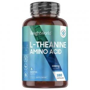 Cápsulas de L-Teanina, suplemento de te natural, 400mg 180 cápsulas