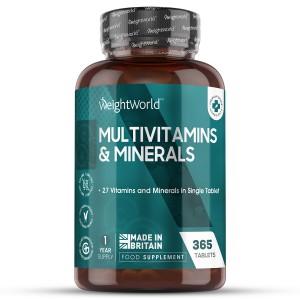 365 Tabletas de Multivitaminas y Minerales | Suplemento Natural de Bienestar