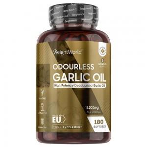Aceite de ajo inodoro - Suplemento de Bienestar - WeightWorld - 180 Cápsulas