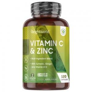 Cápsulas de Vitamina C y Zinc | Suplemento Natural | WeightWorld