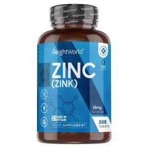 Tabletas de Zinc | Suplemento alimenticio para el funcionamiento normal del sistema inmunológico y la función cognitiva normal