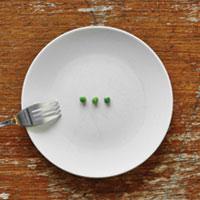 Plato con poca comida