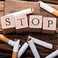 foto con stop a fumar