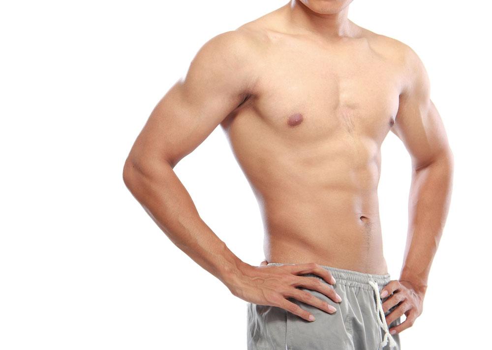 Torso desnudo de hombre