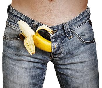 Entrepierna de hombre con banana
